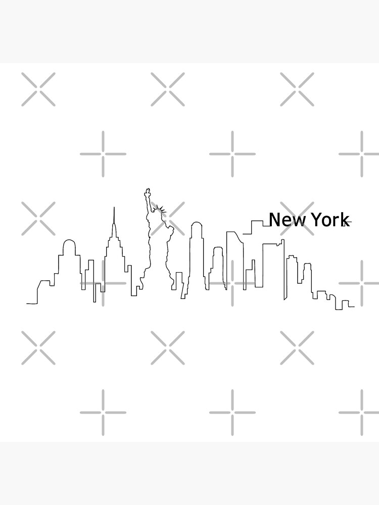 New York Skyline Outline Cityscape Travel by DuxDesign
