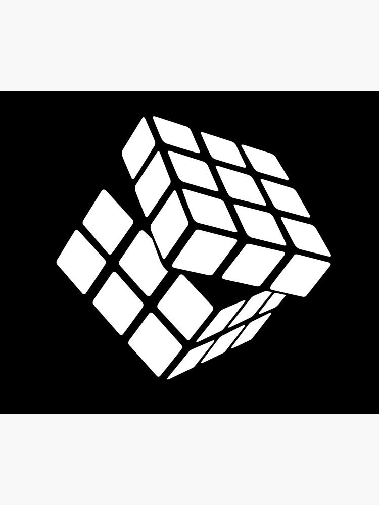 White Rubik's Cube by Modnay