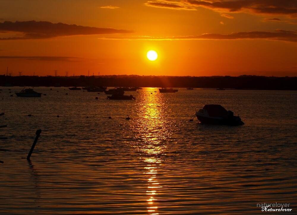 Sunset Over Sandbanks by naturelover
