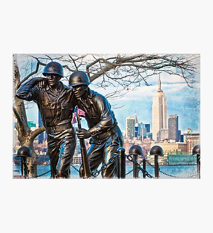 Hoboken Waterfront War Memorial Photographic Print