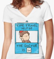 The Doctor Is In Women's Fitted V-Neck T-Shirt