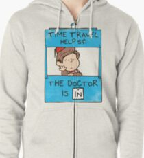 The Doctor Is In Zipped Hoodie