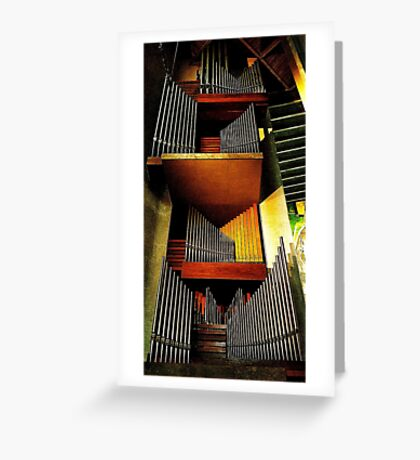 Organ pipes, Coventry Cathedral 2 Greeting Card