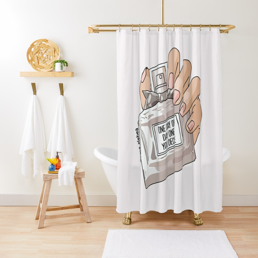 One day by Sasa Elebea Shower Curtain