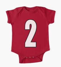 Football, Soccer, 2, Two, Second, Number Two, Sport, Team, Number, Red, Devils Kids Clothes