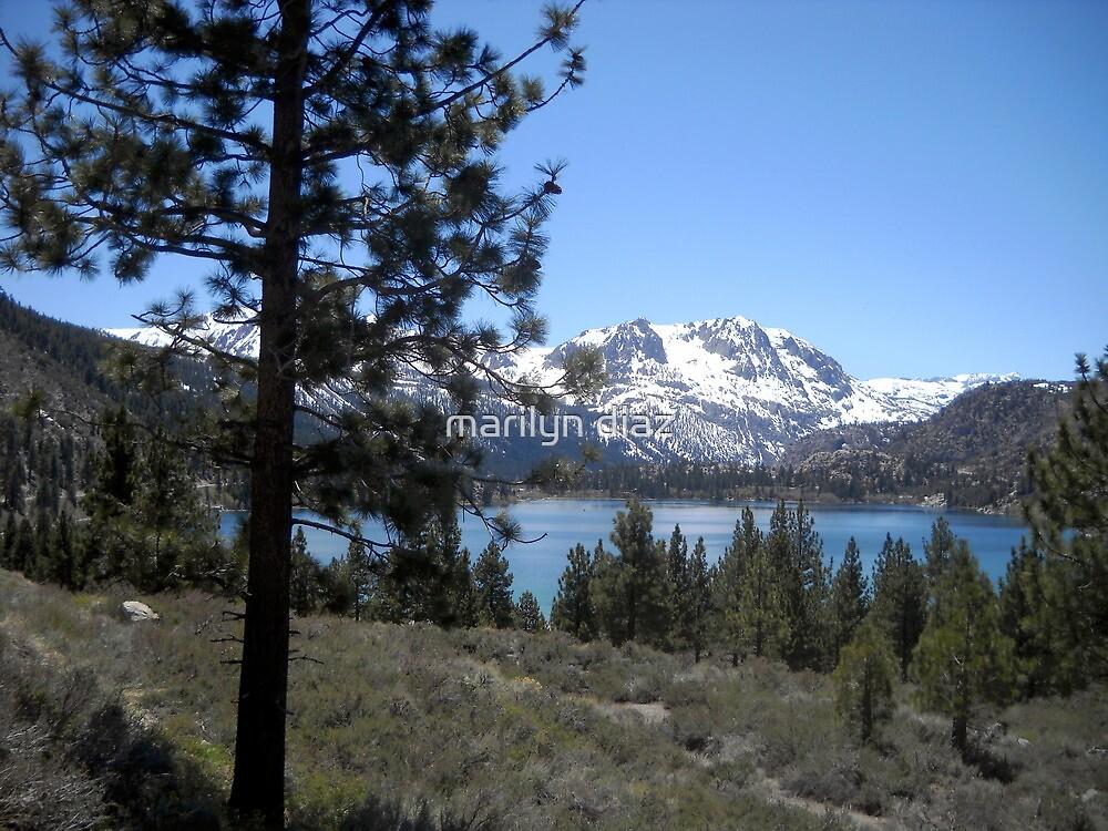 June Lake in May by marilyn diaz