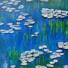 water lilies, blue by olivia-art