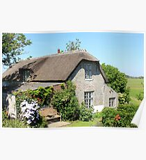 Country 'chocolate box' cottage Poster