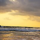 As I surf towards the sunset by Malin Nordlund