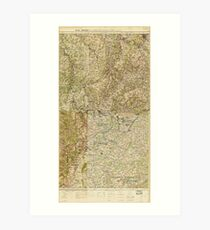 World War I 26th, 29th & 82nd Divs. (5th Corps) Headquarters Map Art Print