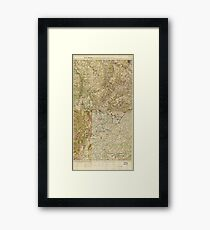 World War I 26th, 29th & 82nd Divs. (5th Corps) Headquarters Map Framed Print