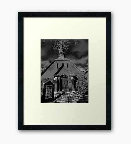 Dark as Night Framed Print
