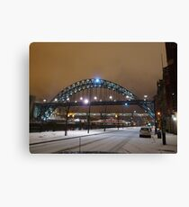 Tyne Bridge in Snow Canvas Print