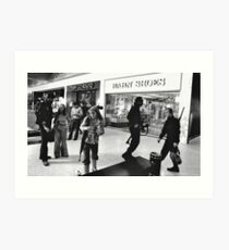 Zombie Fighters in the Mall Art Print