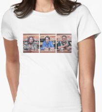 Lebowski Triptych Women's Fitted T-Shirt