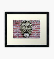 Scarey Mask Framed Print