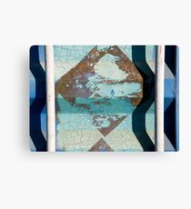 Metal Blue Canvas Print