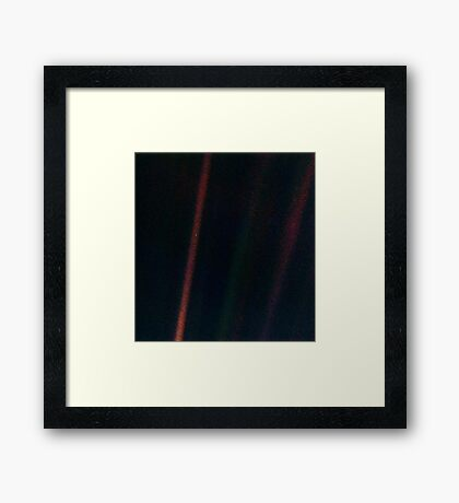 Pale Blue Dot Framed Print