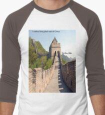 I walked the great wall of China Men's Baseball ¾ T-Shirt