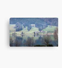 lake in austria Canvas Print