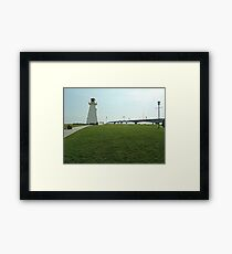 Lighthouse at Confederation Bridge Framed Print
