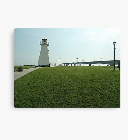Lighthouse at Confederation Bridge Canvas Print