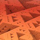 Red Sierpinski by Lyle Hatch