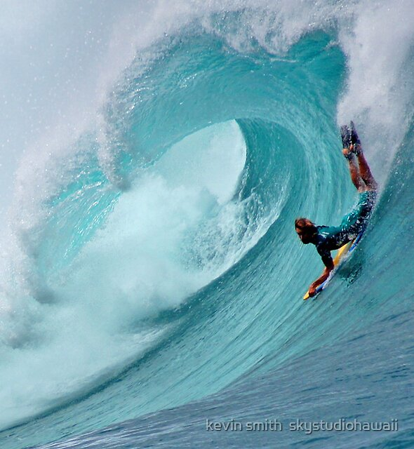 Waimea Bodyboarder by kevin smith  skystudiohawaii
