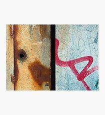 Graffiti and Rust  Photographic Print