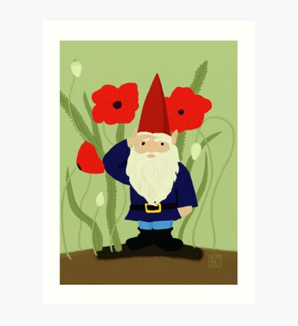 Garden of Remembrance Gnome Art Print
