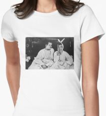 Laurel and Hardy Women's Fitted T-Shirt