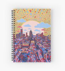 Austin texas skyline abstract 3 Spiral Notebook