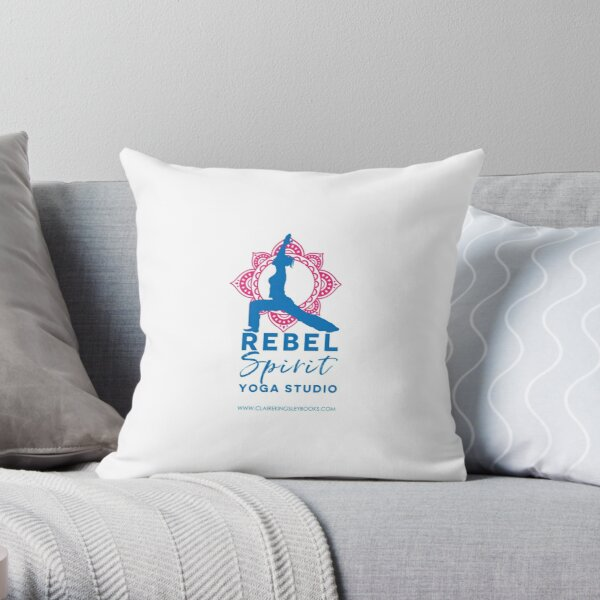 Rebel Spirit Yoga Studio Throw Pillow
