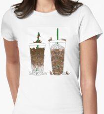 Starbucks Kittens! Womens Fitted T-Shirt
