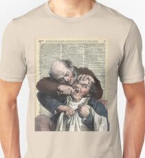 Dentist pulling teeth over old dictionary page T-Shirt