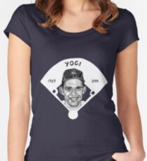 Yogi Berra Baseball Star 1925-2015 Women's Fitted Scoop T-Shirt