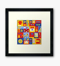 Colorful Education Concept Framed Print