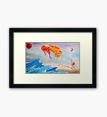 le fishy kite  Framed Print