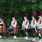 Bagpiper and Drummers by Eileen Brymer