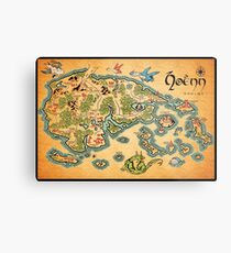 Hoenn Map Metal Print