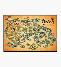Hoenn Map Photographic Print