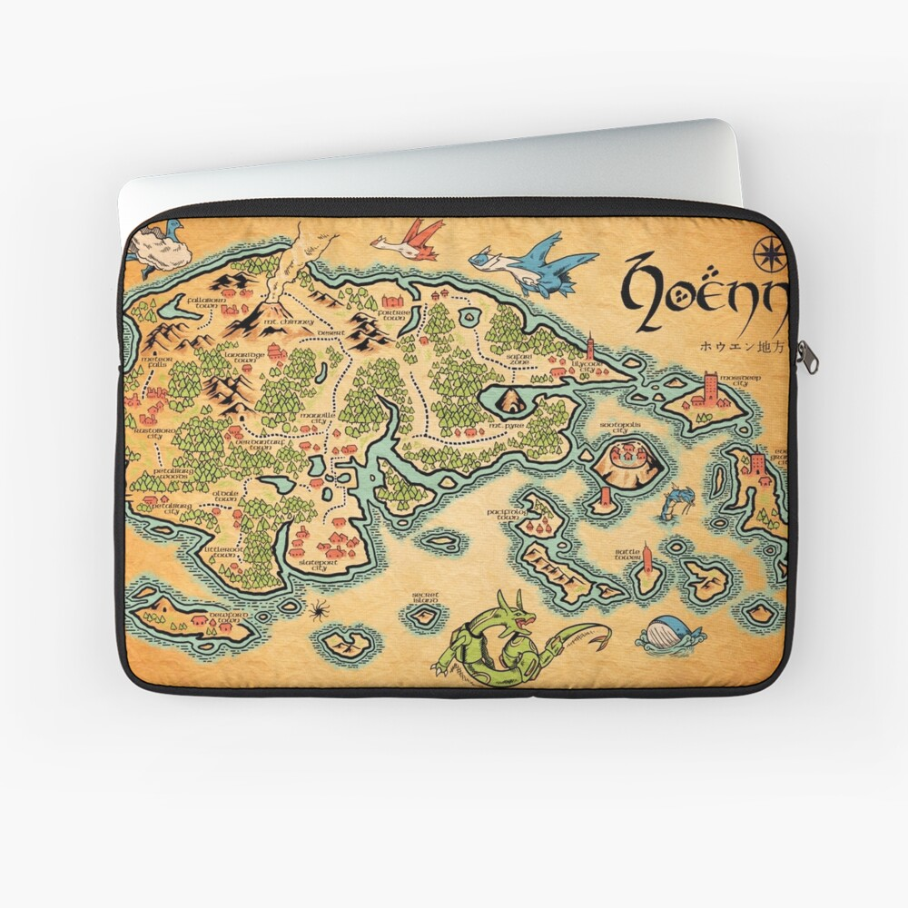 Hoenn Map Laptop Sleeve