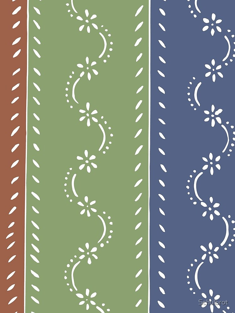 3-colored floral pattern by Schulbrot
