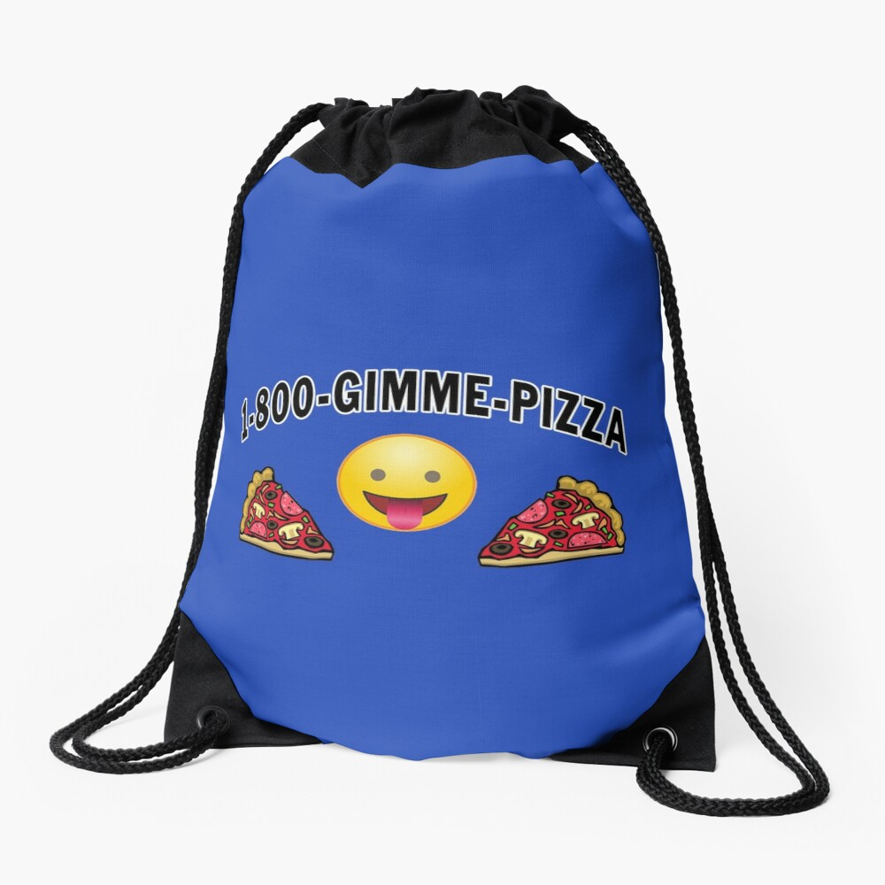 Pepperoni Pizza Junk Food Lovers Foodie gift. Drawstring Bag