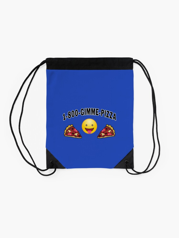 Alternate view of Pepperoni Pizza Junk Food Lovers Foodie gift. Drawstring Bag