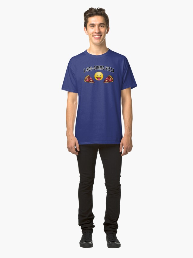 Alternate view of Pepperoni Pizza Junk Food Lovers Foodie gift. Classic T-Shirt