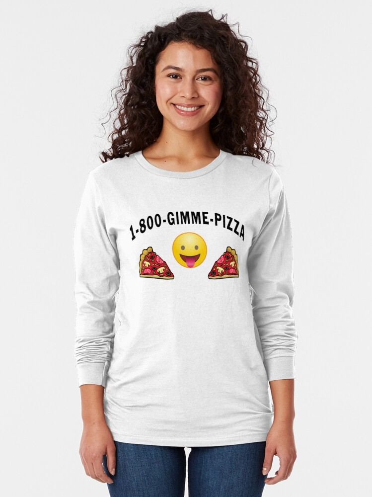 Alternate view of Pepperoni Pizza Junk Food Lovers Foodie gift. Long Sleeve T-Shirt