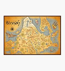 Sinnoh Map Photographic Print
