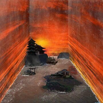 Ancient Japanese Sunset by tetsuya