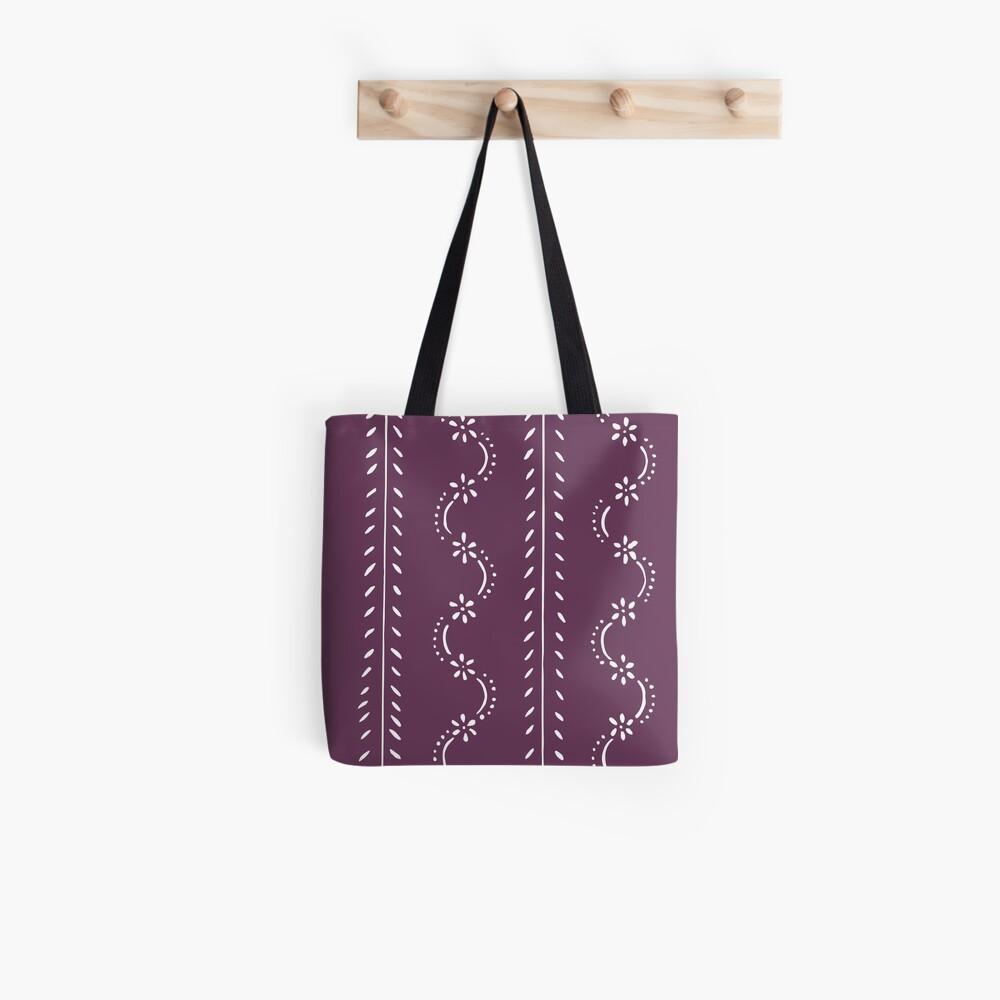 Nostalgic scattered flower pattern in violet pastel colors Tote Bag
